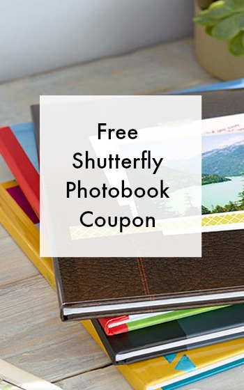free shutterfly photobook coupon worth $29.99!