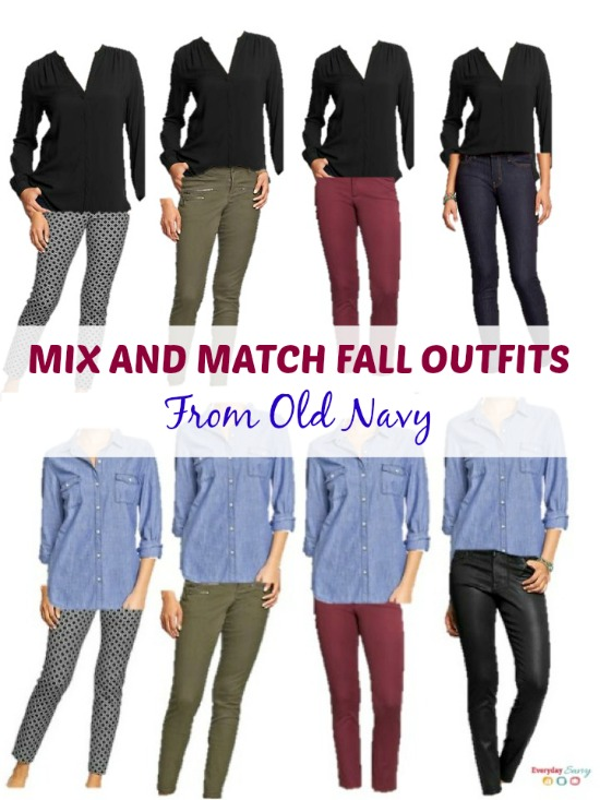 mix and match outfits from Old Navy