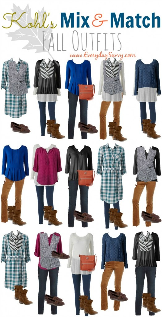 Kohl S Mix And Match Fall Casual Outfits Everyday Savvy