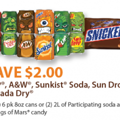 Mars Halloween candy coupon