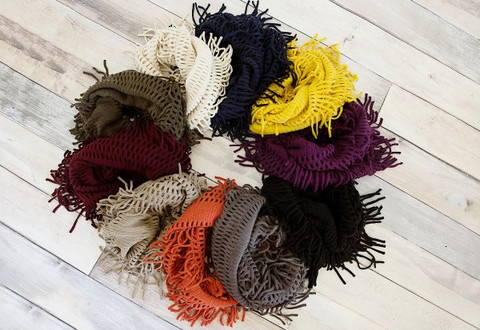fringe scarf colors