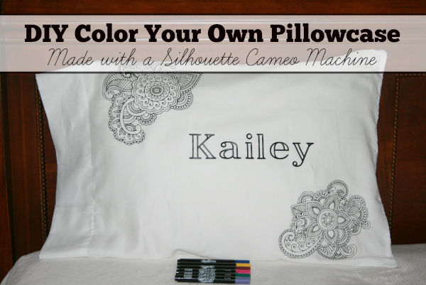 DIY Color Your Own Pillowcase Made with a Silhouette Cameo
