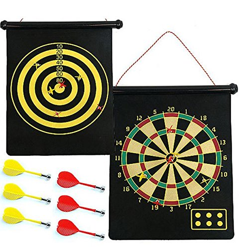 Double Sided Hanging Dart Board Set Teenage Boy Gift Idea