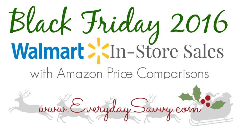 Top 2016 Walmart Black Friday Sales and Amazon Price Matching and Price Comparsions