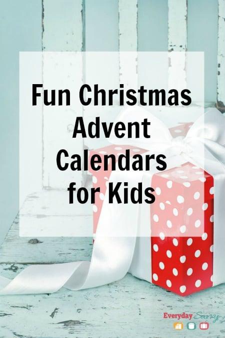 Fun Christmas Advent Calendars for Kids