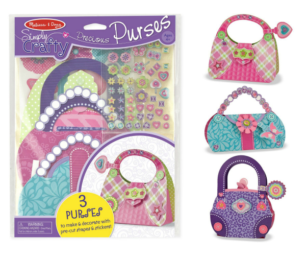 Melissa and Doug Simply Crafty Purses Stocking Stuffer for Girls