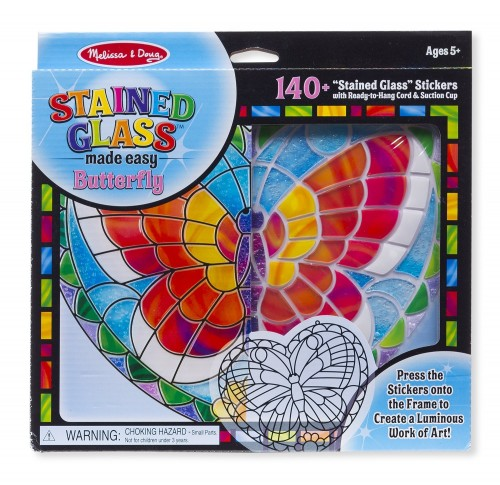 Melissa and Doug Stained Glass Art Gift Idea for Girls 3 4 5 6