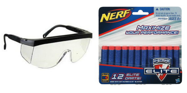 Protective Glasses and Nerf Darts Stocking Stuffer for Boys