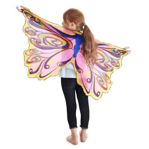 Rainbow Fairy Wings With Glitter Gift Idea for Girls 3 4 5 6