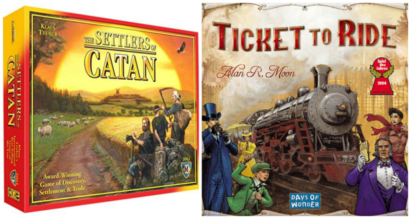 Ticket to Ride and The Settlers of Catan for Tween Boys
