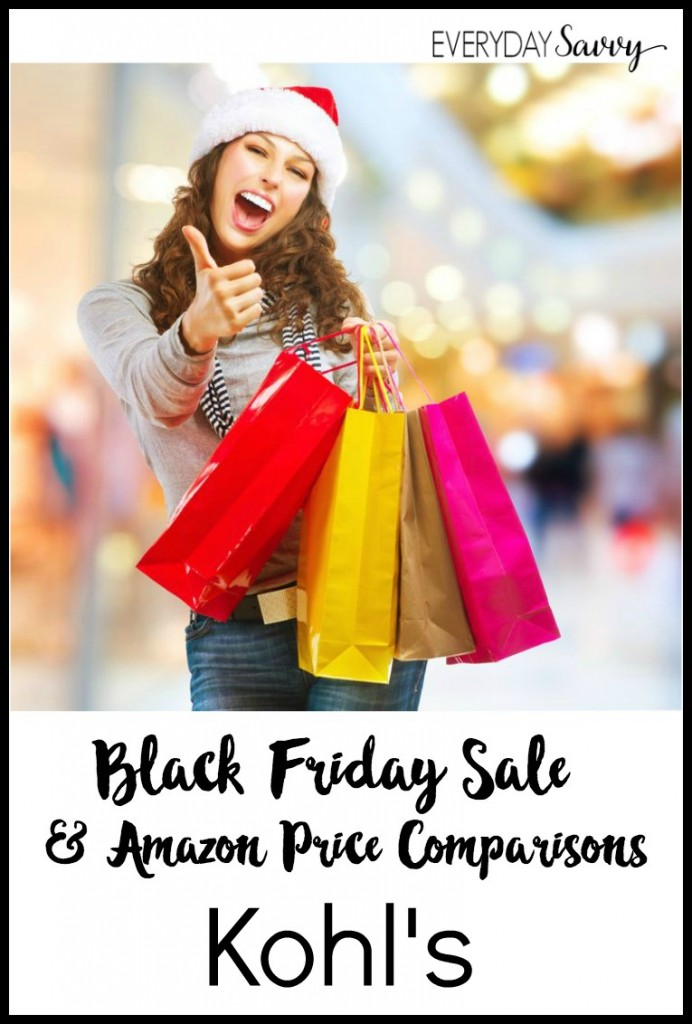 2016 Kohls Black Friday Sales & Amazon Price Comparisons - Check out what is on Black Friday Sale at Kohls and if Amazon is price matching.