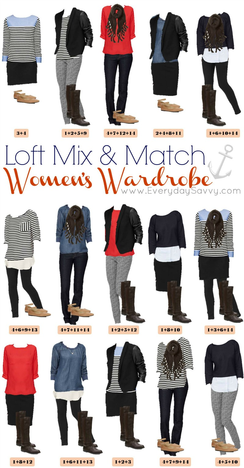15 mix and match outfits from loft nautical leather everyday savvy. Black Bedroom Furniture Sets. Home Design Ideas