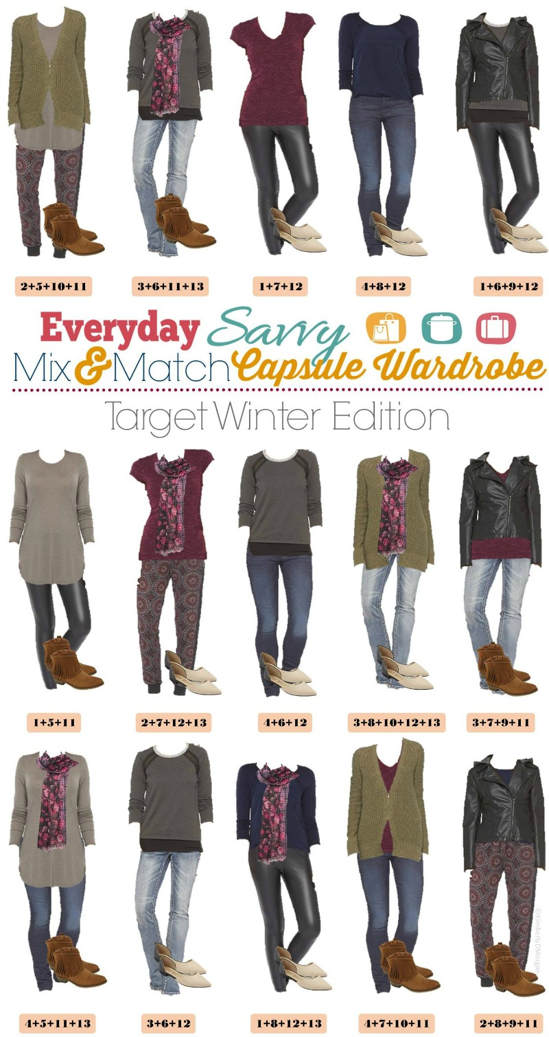 mix and match capsule wardrobe target winter edition. Black Bedroom Furniture Sets. Home Design Ideas
