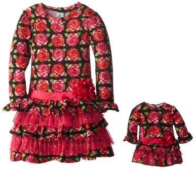 Dollie and Me Roses Printed Dresses