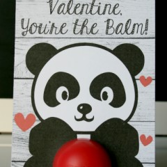 EverydaySavvy DIY Valentine EOS Lip Balm Card with a Free Printable