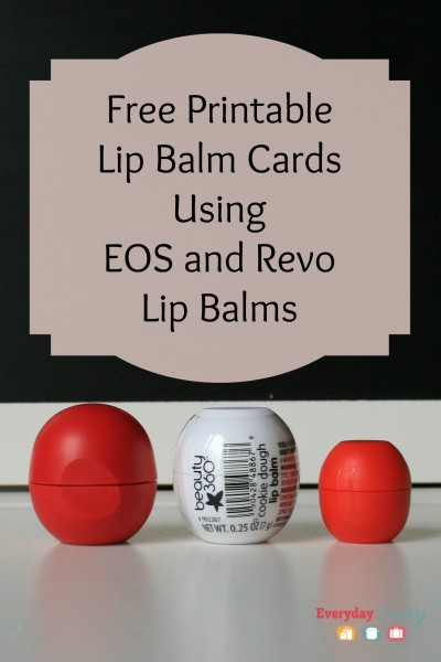 Valentine's Day is just around the corner and you will love our cute free printable valentine card, made to hold those cool EOS lip balms.