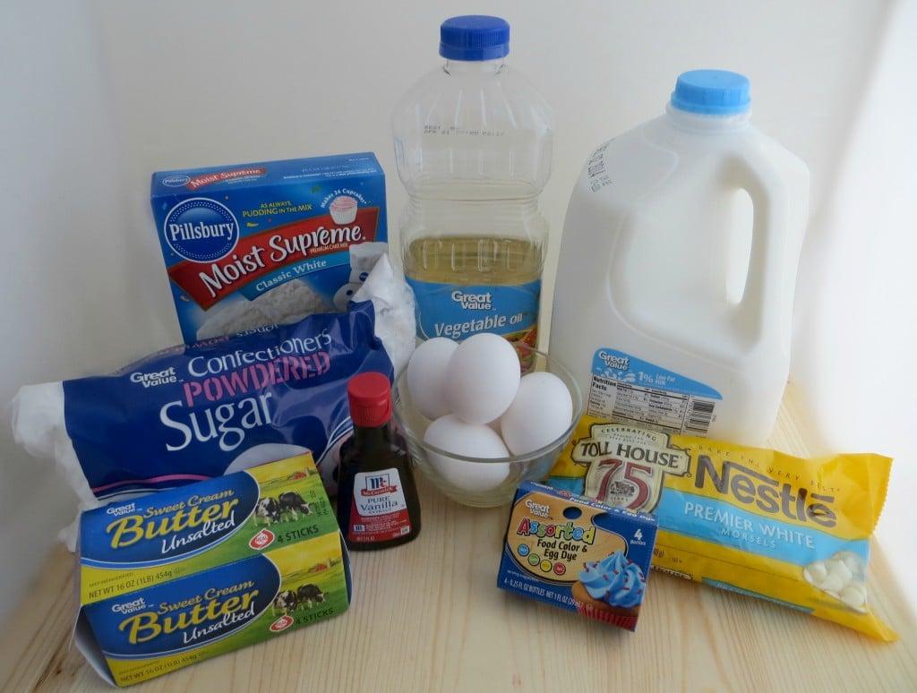 snowflake cupcake recipe ingredients