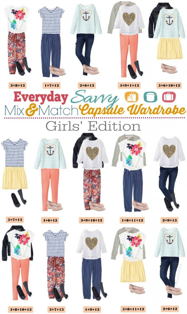 Spring Mix And Match Outfits For Girls Mix And Match For 15 Fun Outfits