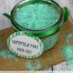 Homemade DIY Mint Bath Salts Recipe