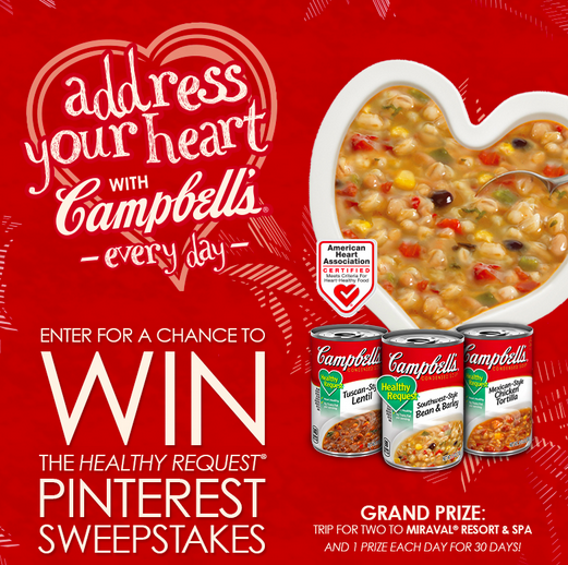 campbell's address your heart pinterest contest