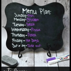 easy DIY Chalkboard Menu planner