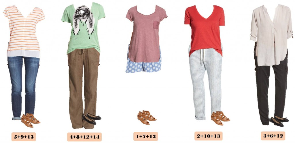 Spring Nordstrom Capsule Wardrobe - 15 Mix and Match outfits for spring that are comfy casual and cute!