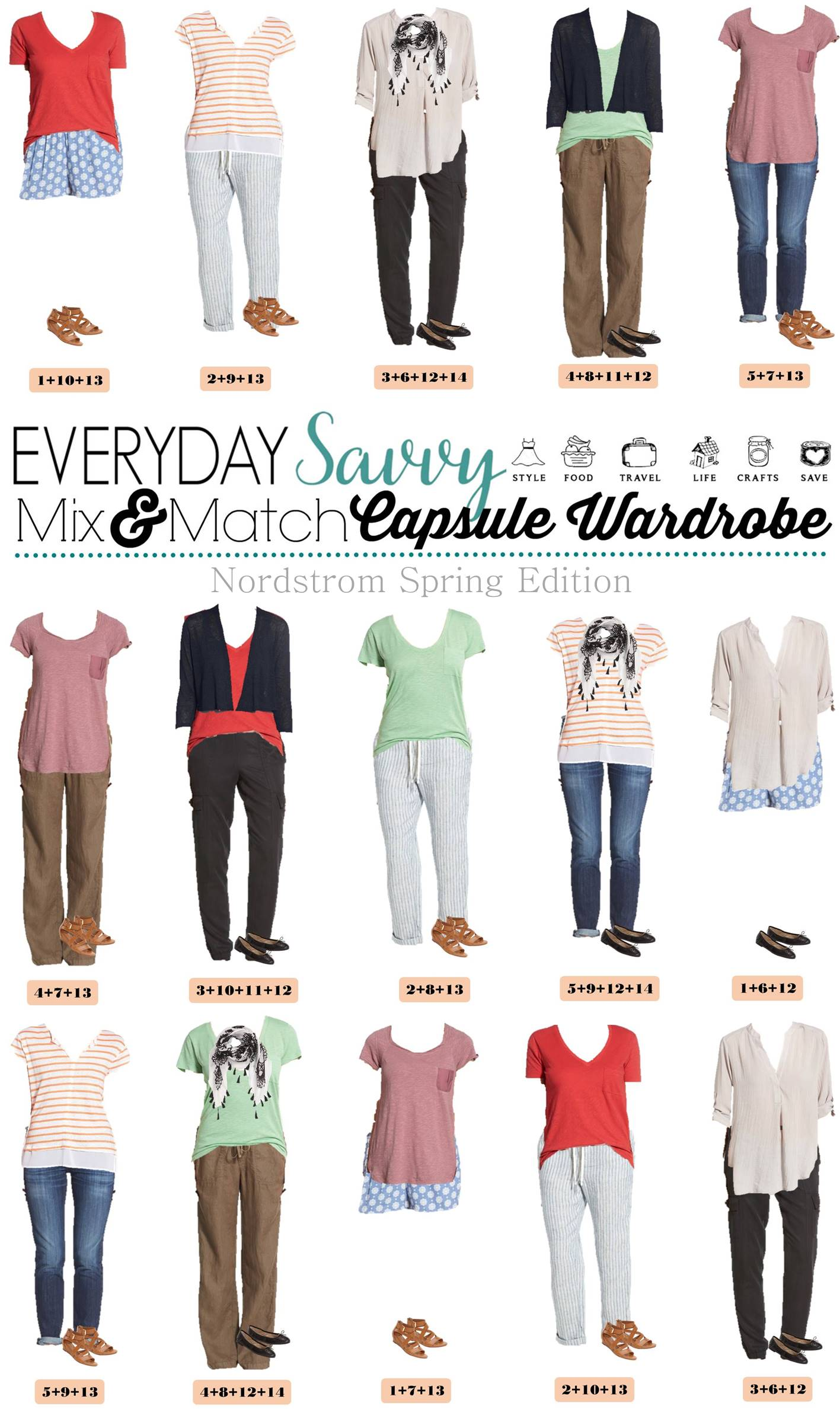Nordstrom Spring Capsule Wardrobe Mix Amp Match Outfits