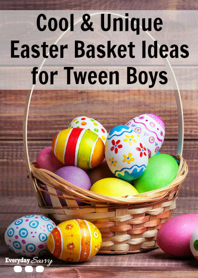 Cool & Unique Easter Basket Ideas for Tween Boys - Check out these cool Easter Basket ideas for tween boys. Lots of different no candy ideas at lots of price points.