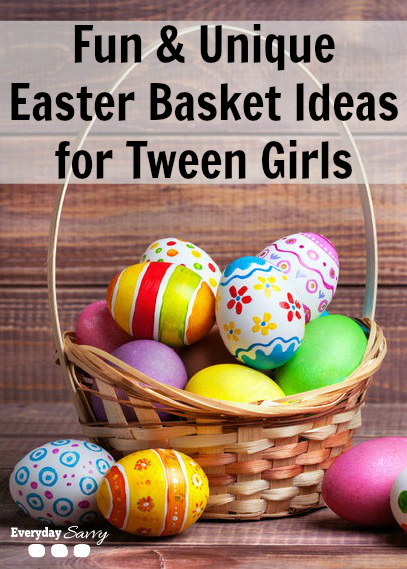 Fun & Unique Easter Basket Ideas for Tween Girls - Tween girls can be hard-to-please and if you need help this year, we have lots of non-candy Easter basket ideas for tween girls they will love.