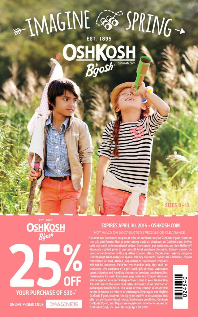 Osh Kosh Bgosh coupon printable and online