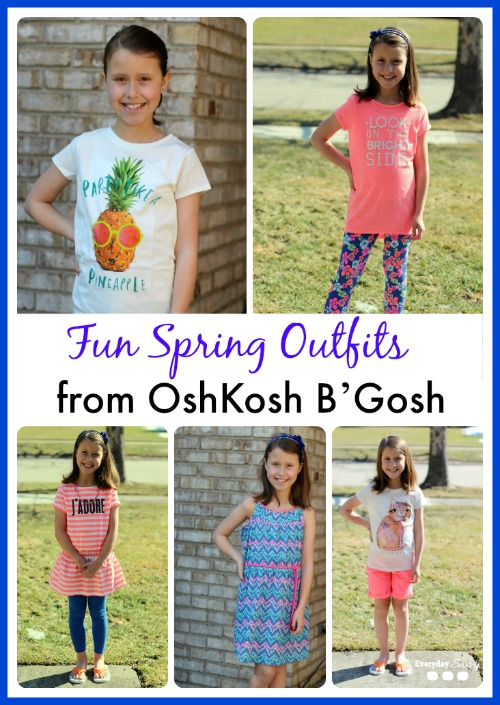Check out these super cute spring outfits from Osh Kosh B'Gosh plus 25% off  printable coupon and online coupon code.  #ImagineSpring