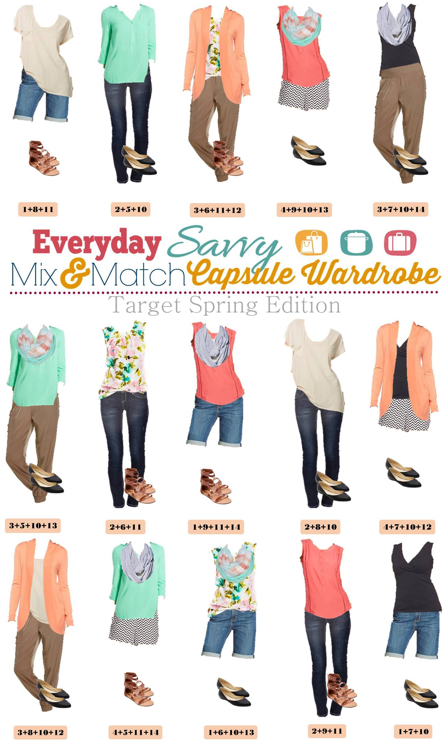Spring Target Capsule Wardrobe Mix Amp Match With Chevron