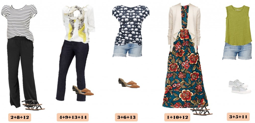 Spring & summer capsule wardrobe with all with items from Loft.  The colors in this capsule are bold and bright with fun patterns.