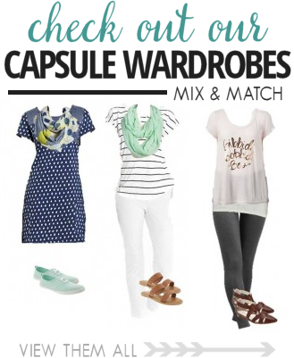 One easy way to save money this year is to use a capsule wardrobe so you don't spend as much money on clothing. This is an easy way to save money.