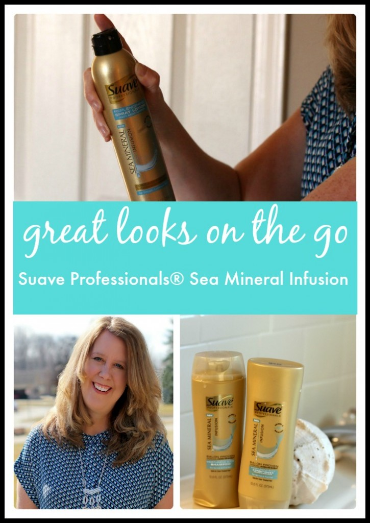 I am always on the look out for great beauty products that are salon proven to work as well as higher end brands. Get great looks on the go with Suave's all new Professionals series of Sea Mineral Infusion hair and body products! #BeautyByMe #ad