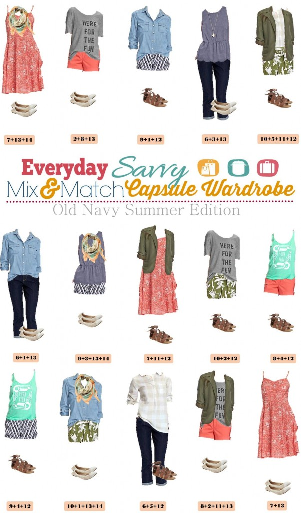 Old Navy Summer Capsule Wardrobe includes fun shorts, graphics tees, a sundress and more!