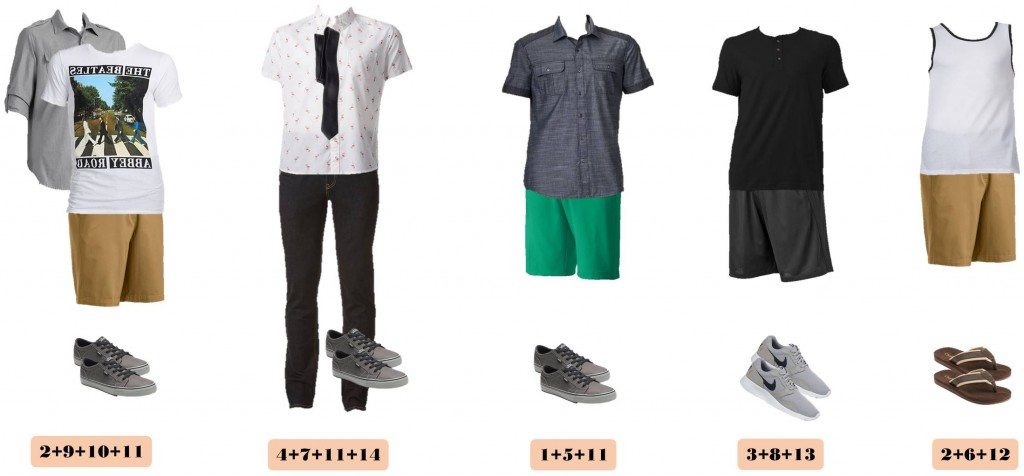 mens capsule wardrobe for spring/summer all with items from Kohls. These items will help your man look great all summer long.