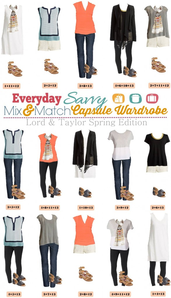 Here is a new spring & summer capsule wardrobe with all with items from Lord & Taylor. We went a little more upscale with this capsule wardrobe. It has high quality and classic pieces with little extra details that will help you look your best.