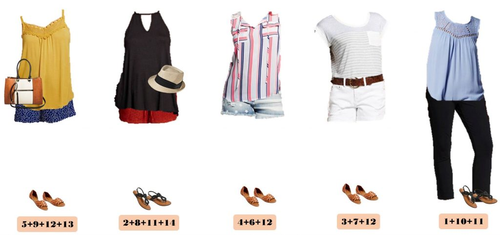 Here is a new Target Summer Capsule wardrobe. It includes cute shorts, drapey tank tops and even some red, white and blue outfits that would be perfect for Fourth of July.