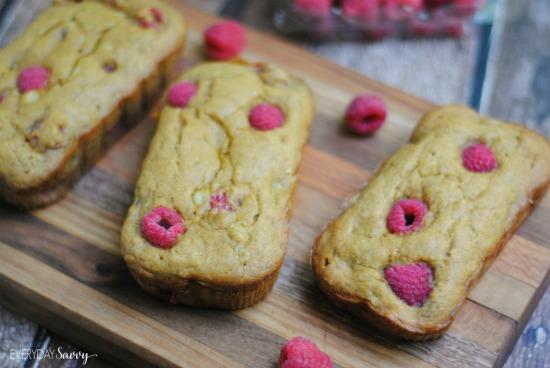 raspberry banana bread mini loaf recipe