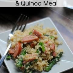 Asparagus, Sausage & Quinoa meal