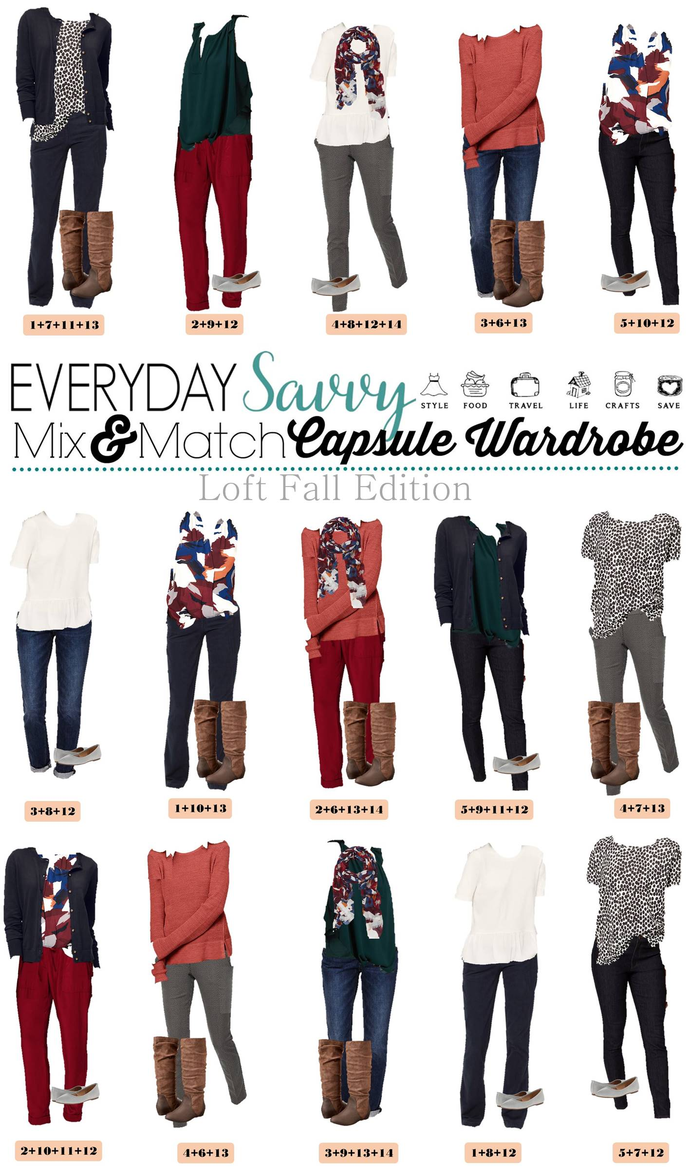 Loft Fall Capsule Wardrobe Easy Mix Amp Match Outfits For Fall