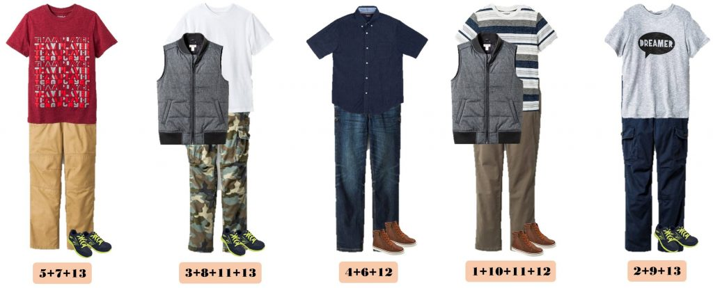 Back School Shopping is easy with these boys mix and match outfits for school. 15 Mix and Match outfits that are perfect for school. All items are from Target and you can buy them all at a great price.