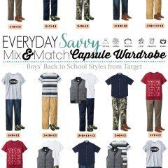 8.15 Capsule Wardrobe - Boys B2S Styles from Target VERTICAL