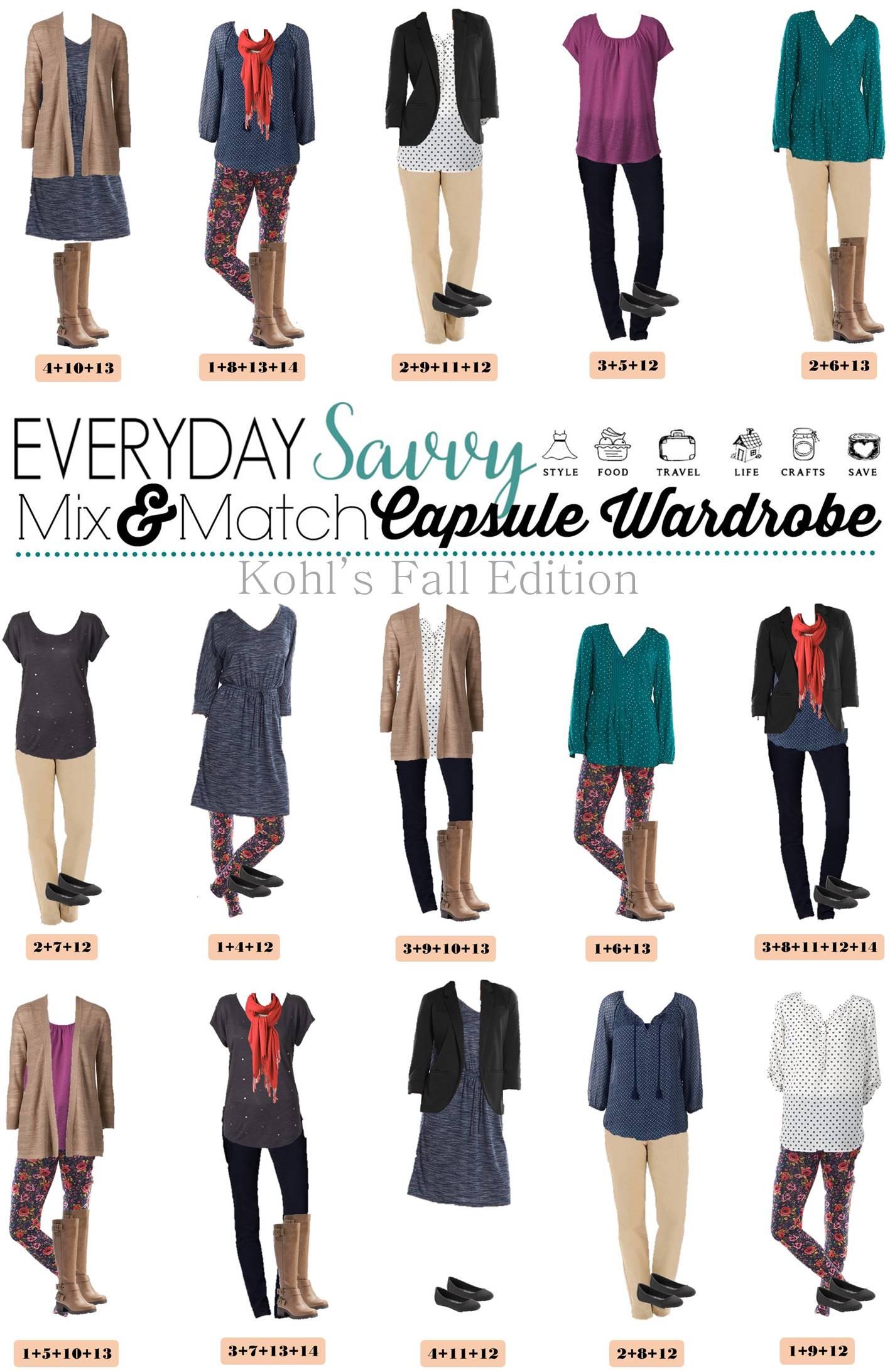 Kohl S Capsule Wardrobe For Fall