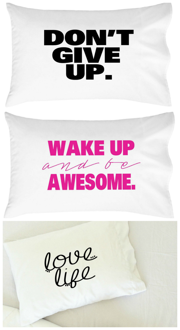 Inspirational Pillowcases Gift Idea for Teenage Girl
