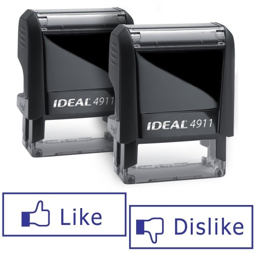 Pair of Like Dislike Stamps Stocking Stuffer for Men