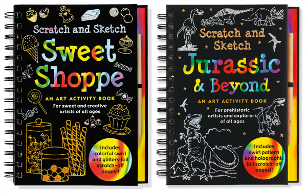 Scratch and Sketch Books Gift Idea for Kids Art