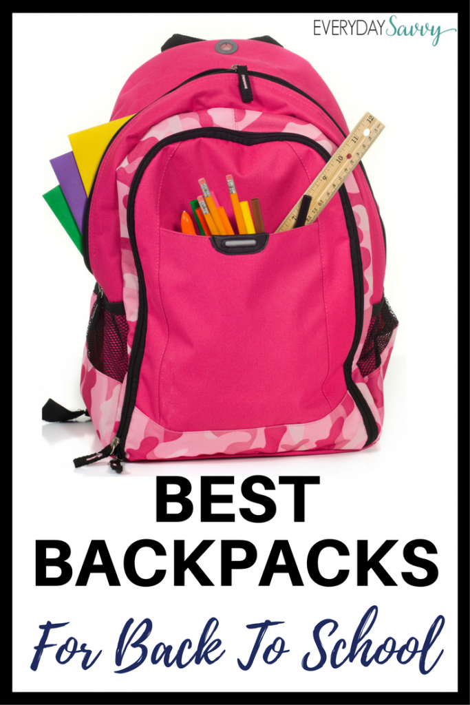 Find all the best backpacks for school. Highlighted are durable quality and cute backpacks for elementary, middle school and high school.