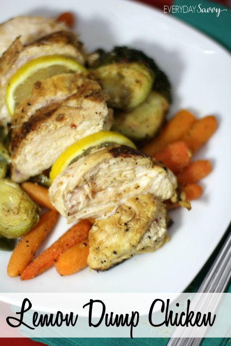 easy Lemon Dump Chicken recipe that you can prep and freeze. Once you are ready to cook, all you do it dump the whole freezer bag into the slow cooker. Seriously you can't have dinner made easier than that!